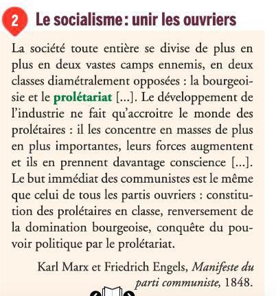 Extrait du Manifeste du parti communiste, 1848