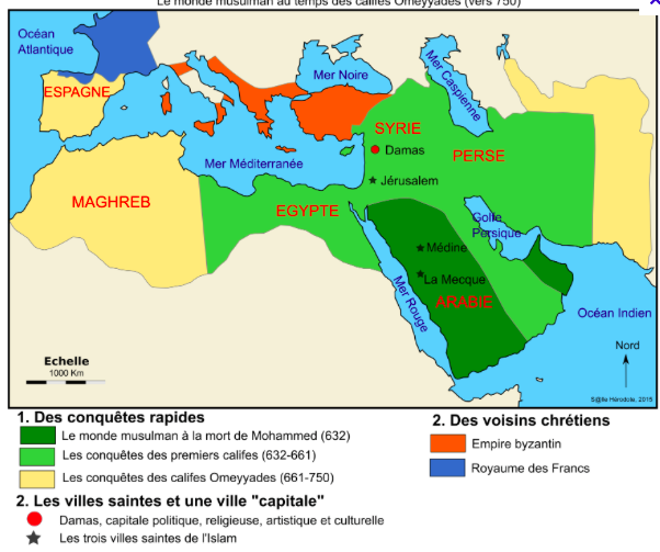 Morcellement de l'Empire (carte)